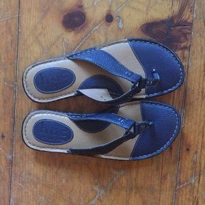 BOC by Born blue leather sandals Size 8